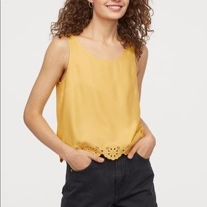 H&M Scalloped Trim Tank